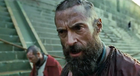 Hugh Jackman Les Miserables movie Les Miz Jean Valjean Look Down
