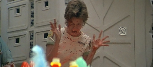 A genuinely terrified Veronica Cartwright thanks you for your time