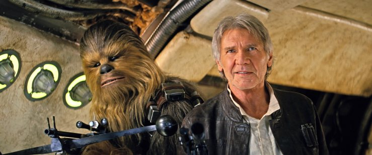harrison ford and chewie force awakens