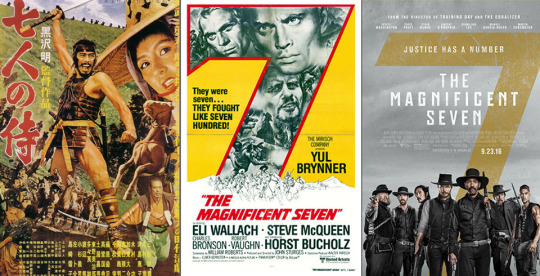 the magnificent seven remakes
